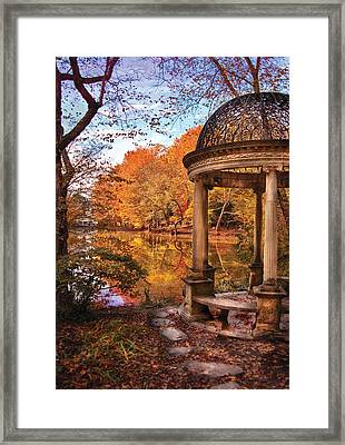 Fantasy - The Temple Framed Print by Mike Savad