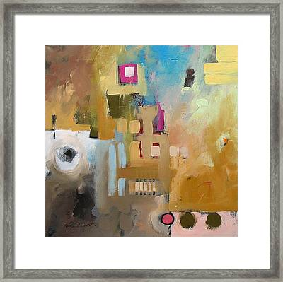 Fantasy 79b  Framed Print by Linda Monfort