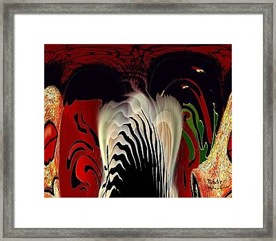 Fantasy Abstract Framed Print by Natalie Holland