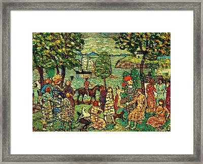Fantasy Also Known As Landscape With Figures Framed Print