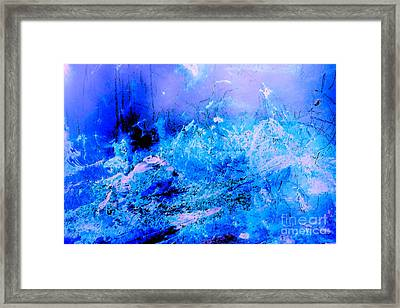 Fantasy Blue Artwork Framed Print
