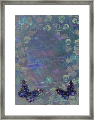 Framed Print featuring the painting Fantasy Butterfly Painted Pansy by Judith Cheng