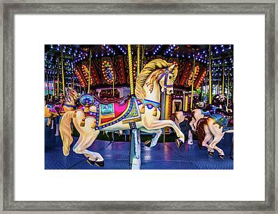 Fantasy Carrousel Horse Ride Framed Print