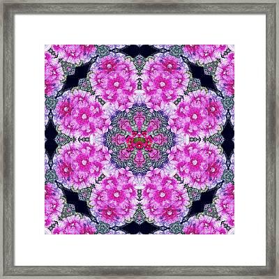 Fantasy Cherry Flower Mandala Pop Art  Framed Print