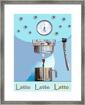 Fantasy Espresso Machine Framed Print