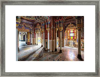 Fantasy Fairytale Palace - Colored Glass Framed Print by Dirk Ercken