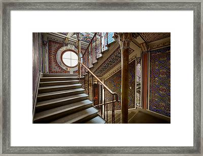 Fantasy Fairytale Palace - The Stairs Framed Print by Dirk Ercken