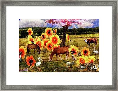 Fantasy Farm Framed Print