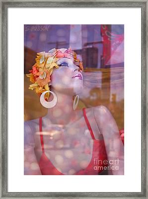 fantasy figures fine art - Bathing Beauty Framed Print