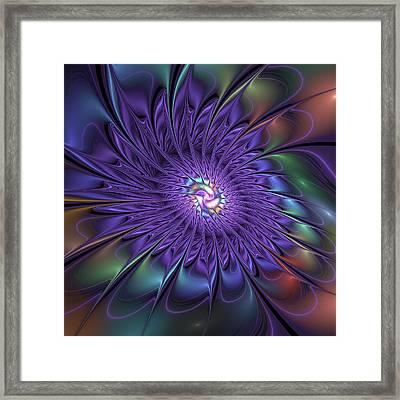 Fantasy Flower Fractal Framed Print by Gabiw Art