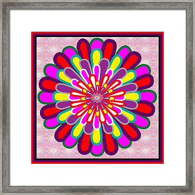 Fantasy Flower Graphics Basics Used This Art To Creat A Lotus Flower Posted Elsewhere In My Gallery Framed Print