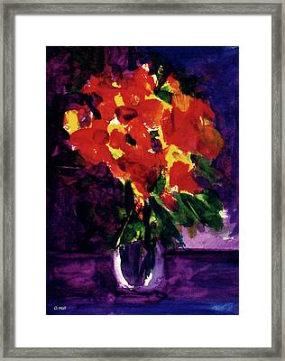 Fantasy Flowers  #107, Framed Print by Donald k Hall