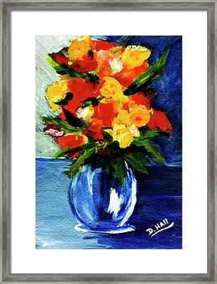 Fantasy Flowers #117 Framed Print by Donald k Hall