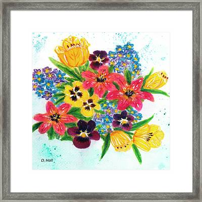 Fantasy Flowers #233 Framed Print by Donald k Hall