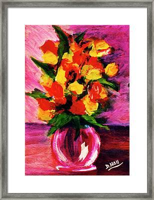 Fantasy Flowers Still Life #118, Framed Print by Donald k Hall