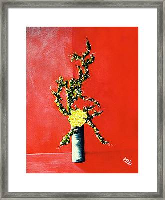 Fantasy Flowers Still Life #162 Framed Print by Donald k Hall