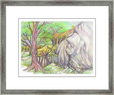 Fantasy Forest Rock Framed Print by Ruth Renshaw