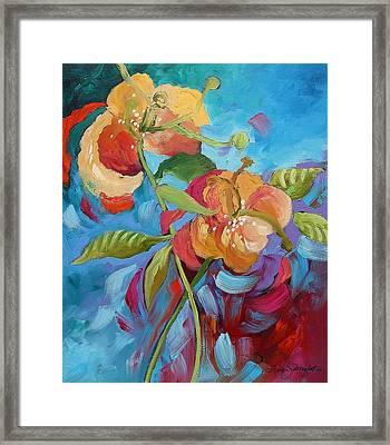 Fantasy Garden  Framed Print by Linda Monfort