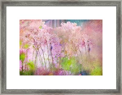 Fantasy Garden Of Spring Framed Print by Jenny Rainbow