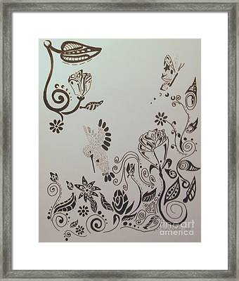 Fantasy Garden Framed Print by Wendy Coulson
