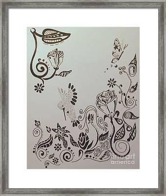 Fantasy Garden Framed Print