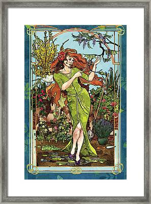 Fantasy Gardening Framed Print