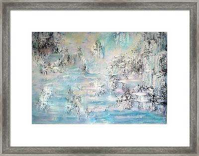 Fantasy In Blue Framed Print