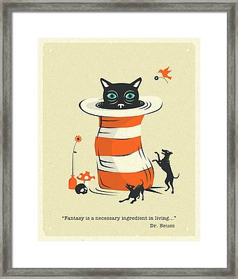 Fantasy Is A Necessary Ingredient In Lving Framed Print by Jazzberry Blue