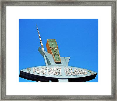 Framed Print featuring the photograph Fantasy Island Sign by Matthew Bamberg