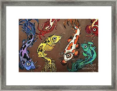 Fantasy Koi Framed Print by Barbara Donovan