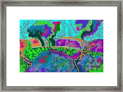 Fantasy Landscape Framed Print by Beebe  Barksdale-Bruner