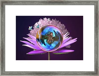 Fantasy Landscape Framed Print by Kate Farrant