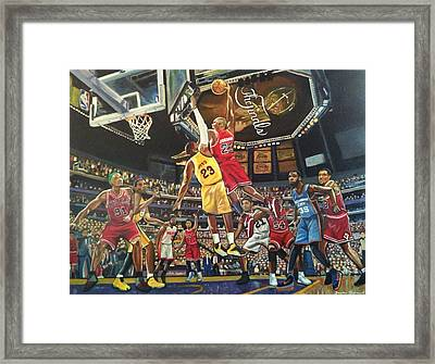 Fantasy League Framed Print by Jason Majiq Holmes