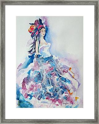 Framed Print featuring the painting Fantasy Mist by Mary Haley-Rocks