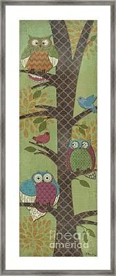 Fantasy Owls - Vertical I Framed Print by Paul Brent