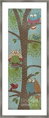 Fantasy Owls - Vertical II Framed Print by Paul Brent