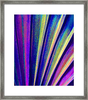 Fantasy Palm Leaf Abstract 4 Framed Print by Margaret Saheed