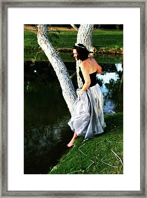 Fantasy Princess And The Pond Framed Print