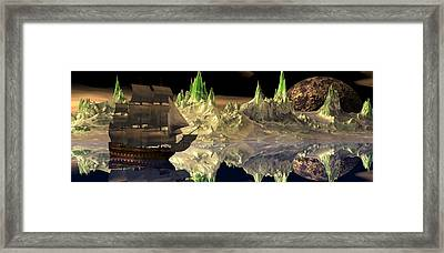 Fantasy Quest Framed Print by Claude McCoy