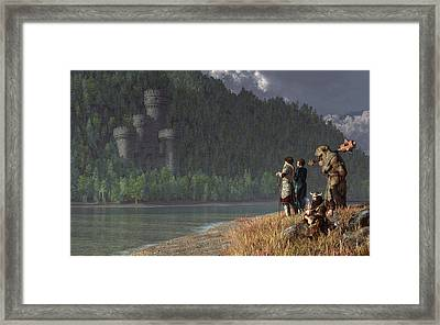 Fantasy Quest Framed Print by Daniel Eskridge