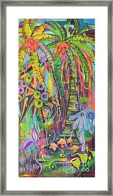Fantasy Rainforest Framed Print by Lyn Olsen