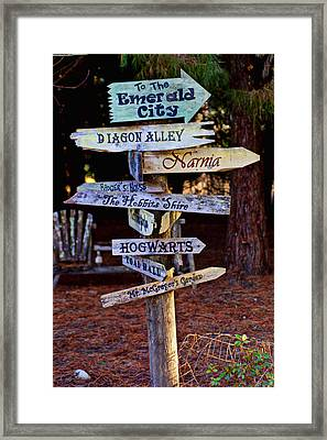 Fantasy Signs Framed Print by Garry Gay