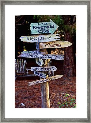 Fantasy Signs Framed Print