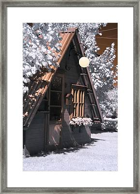 Fantasy Wooden House Framed Print