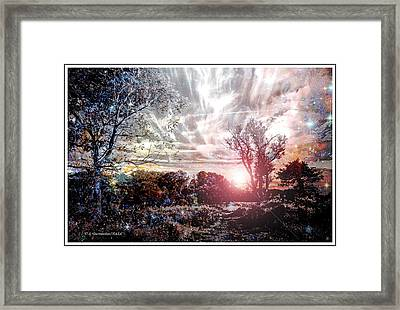Fantasy Twilight, Montgomery County, Pennsylvania Framed Print
