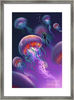Fantasy Underworld Framed Print