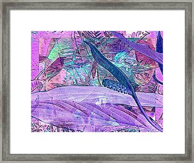 Fantasy With African Violets And Peace Lily 33 Framed Print by Lynda Lehmann