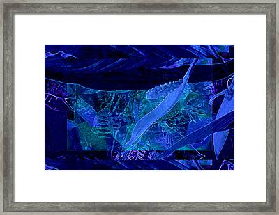 Fantasy With African Violets And Peace Lily 40 Framed Print by Lynda Lehmann