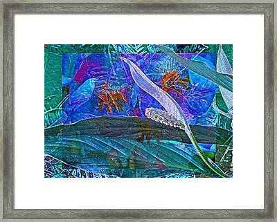 Fantasy With African Violets And Peace Lily 42 Framed Print by Lynda Lehmann