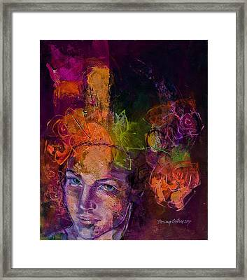 Fantasy With Roses Framed Print